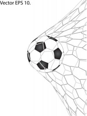 Naklejka Piłka nożna Piłka nożna w celu netto linia szkicowane Vector Illustrator, EPS 10.