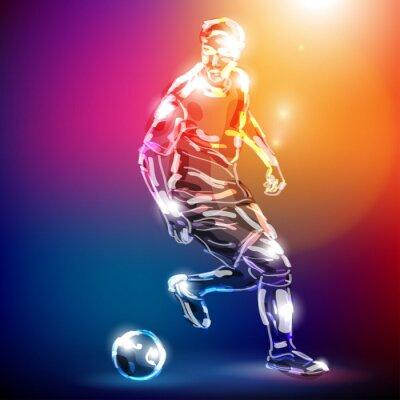 Naklejka piłka nożna WEKTOR
