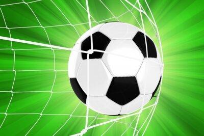 Naklejka Piłka w sieci