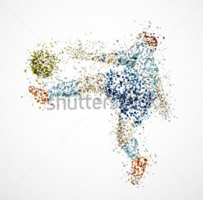Naklejka Piłkarz, kopnij piłkę. EPS 10