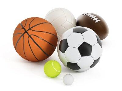 Naklejka Piłki sportowe