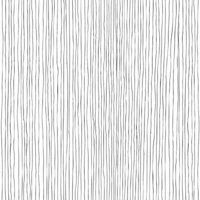 Naklejka Pionowe linie bez szwu ręcznie rysowane wzór