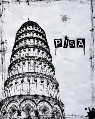 Naklejka pisa tower