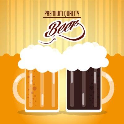 Naklejka Piwo ikona projektowania