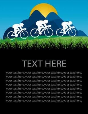 Naklejka plakat na rowerze