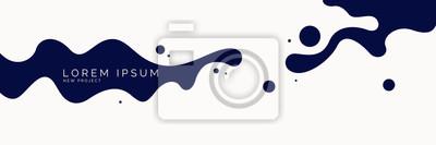 Naklejka Plakat z dynamicznymi falami. Ilustracja wektorowa w minimalistycznym stylu