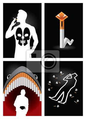 naklejka plakaty antynikotynowe
