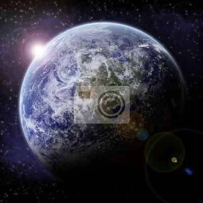 Naklejka Planet Earth Halo - Univers Exploration