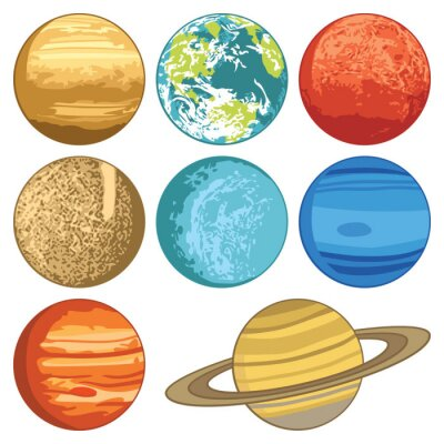 Naklejka Planet Układu Słonecznego