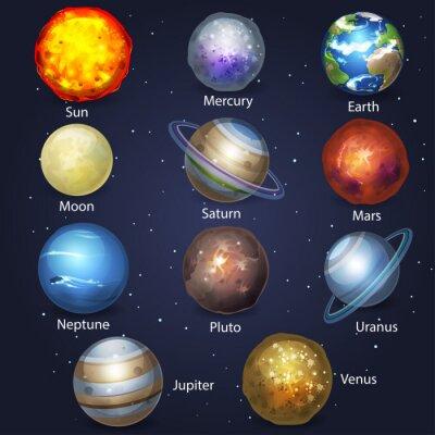 Naklejka Planet zestaw 2