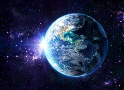 Naklejka planeta w kosmosie - zdaniem USA - Usa