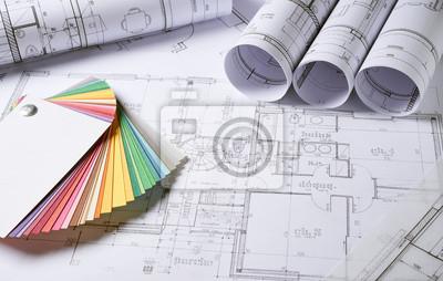 Naklejka Plany Architektura