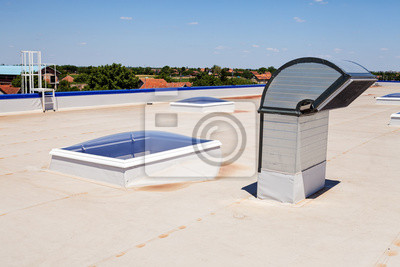 Naklejka Płaski dach na hali przemysłowej