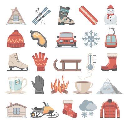 Naklejka Płaskie Icons - Zima