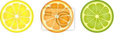 Naklejka Plastry owoców cytrusowych