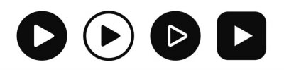 Naklejka Play button icon vector set