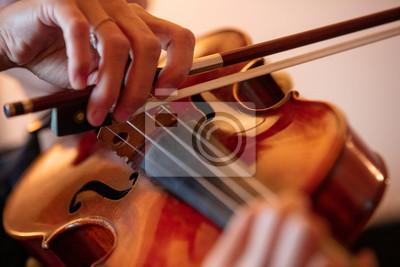 Naklejka Playing violin