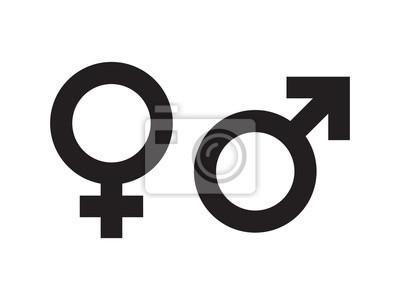Naklejka Płeć symbol
