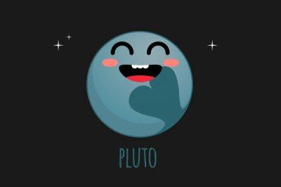 Naklejka Pluto ilustracji wektorowych