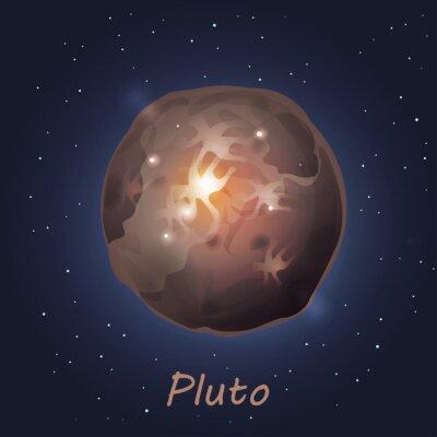 Naklejka Plutona planetą