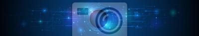 Naklejka Płytka projektowa wektor. Ilustracja Streszczenie nowoczesny futurystyczny, inżynieria, nauka, technologia tło. Cześć technika cyfrowa łączność, komunikacja, koncepcja wysokiej technologii
