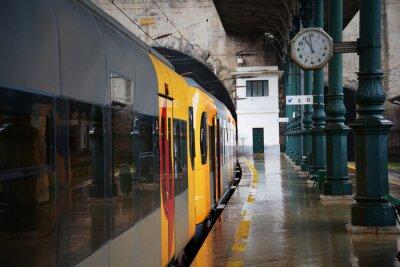 Naklejka Pociąg na stacji