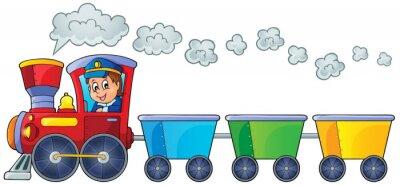 Naklejka Pociąg z trzech pustych wagonów