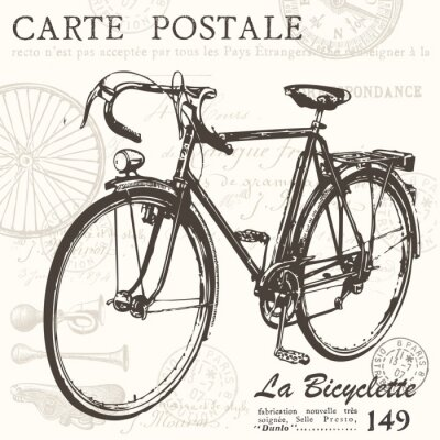Naklejka Pocztówki rowerów
