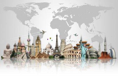 Naklejka Podróż koncepcję World Monuments