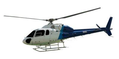 Naklejka Podróż z śmigła helikoptera pracy