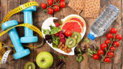 Naklejka pojęcie zdrowego odżywiania