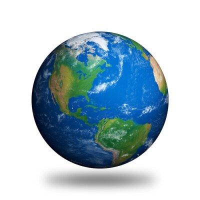 Naklejka Pojedyncze Planet Earth pokazuje Ameryce Północnej