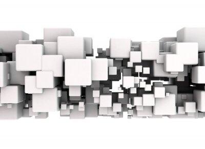 Naklejka Połączenia Cube - streszczenie