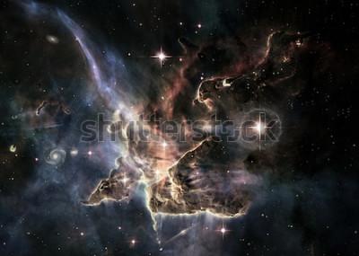 Naklejka Pole gwiazdowe w przestrzeni kosmicznej wiele lat świetlnych od Ziemi. Elementy tego zdjęcia dostarczone przez NASA