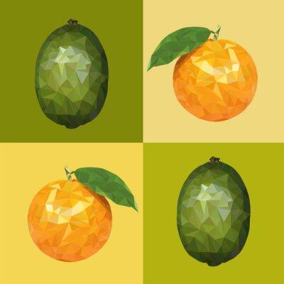 Naklejka poli Niska limonki i pomarańczy