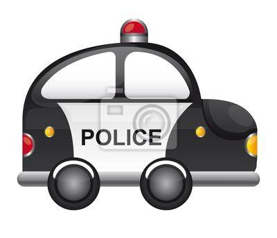Naklejka Police Car