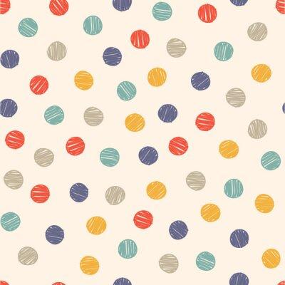 Naklejka polka dot doodle seamless pattern