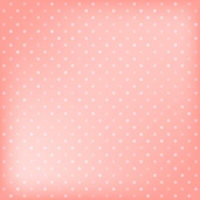 Naklejka Polka dot tle różowy