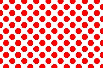 Naklejka Polka dot tło wzór