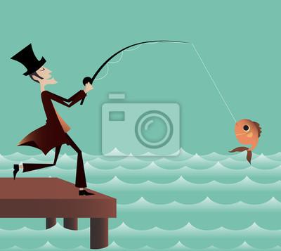 Naklejka Połowów na moście