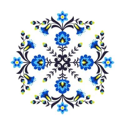 Naklejka Polskie kwiaty ludowe