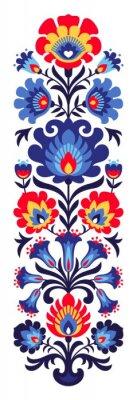 Naklejka Polskie ludowe kwiaty papercut
