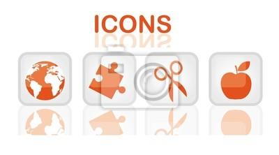 Pomarańczowe ikony