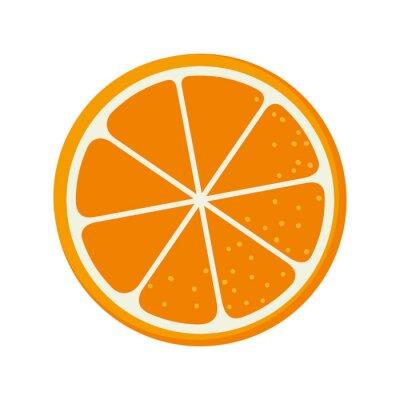 Naklejka pomarańczowe owoce jedzenie naturalny organiczny odżywczy charakter ilustracji wektorowych