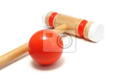 Pomarańczowy Croquet Mallet i Ball