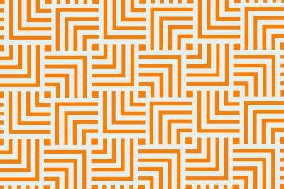 Naklejka Pomarańczowy geometryczny wzór tło wzór | Streszczenie nowoczesna sztuka użytkowa