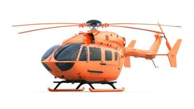 Naklejka Pomarańczowy helikopter. Pojedyncze z wycinek trasy.