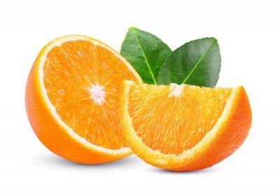 Naklejka pomarańczowy na białym tle