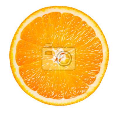 Naklejka pomarańczowy plasterka samodzielnie na białym tle