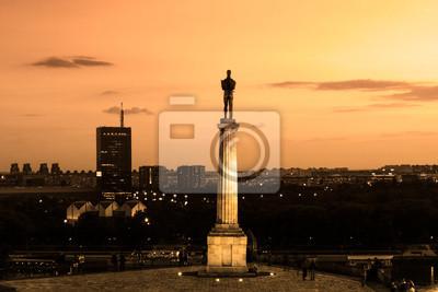 Naklejka Pomnik Wiktora, Belgrad, Serbia.